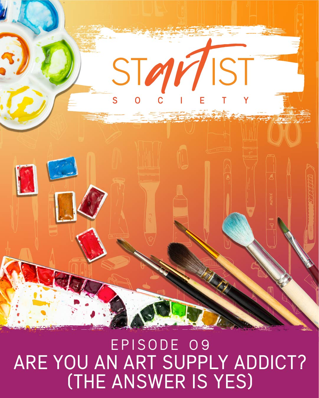 Are you an Art Supply Addict? (The Answer is Yes!)
